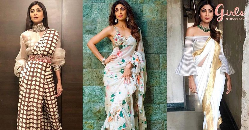 13 Trendy Saree Styles To Learn From Shilpa Shetty Kundra For This Wedding Season Girlstyle India