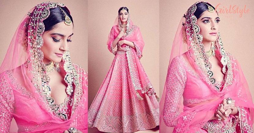 Dil Cheez Kya Hai Aap Meri Jaan Lijiye! Sonam Looks Like A Dream In A Pink Bridal Lehenga
