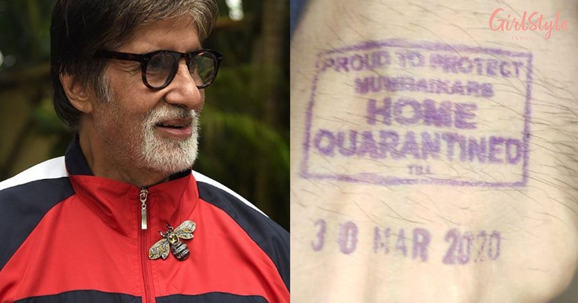 Coronavirus Scare: Amitabh Gets *Self-Quarantined* Stamp On His Hand, Requests People To Stay Safe