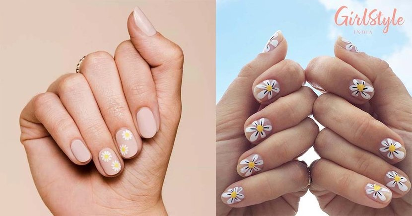Daisy Nail Art is The Trending Manicure On Instagram For Summer 2021