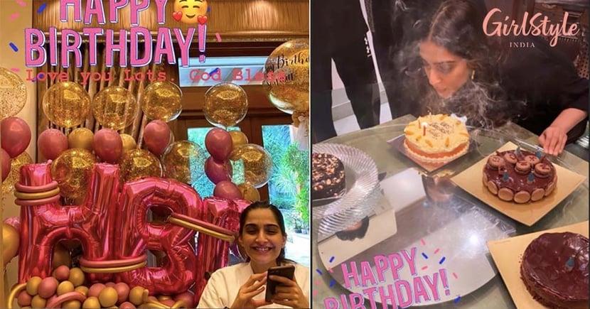 Actress Sonam Kapoor Celebrates Her Quarantine Birthday In Mumbai With Her Anand, Rhea, & More