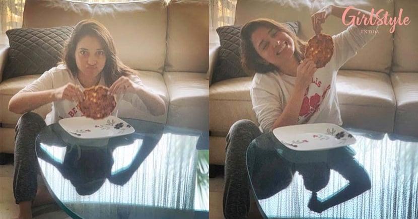 "Actress Tamannah Bhatia Feels Pure Bliss As She Enjoys ""Mummy Ke Haath Ka Paratha"" & We Can Easily Relate to Her"