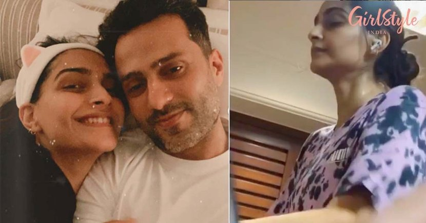 Hubby Anand Ahuja Captures A Video Of Sonam Kapoor As She Croons A Song From Sister Rhea's Playlist While Working Out