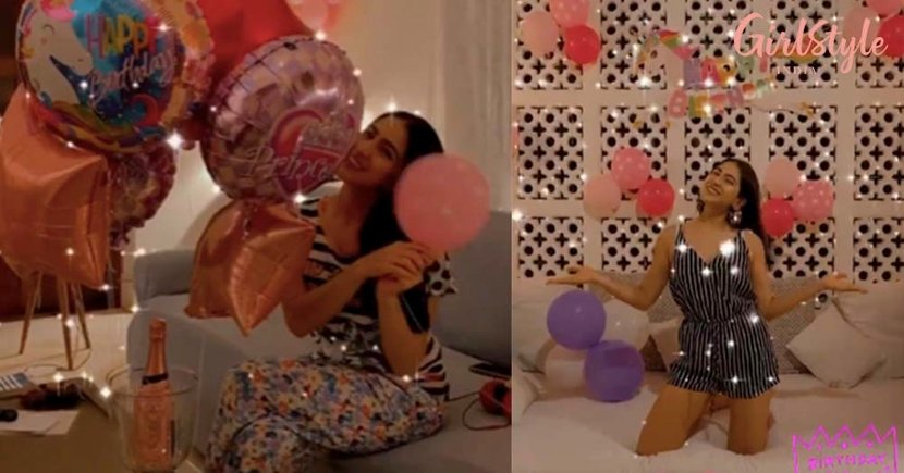 Sara Ali Brought In Her 25th Birthday At Her Holiday Home In A Strappy Striped Romper