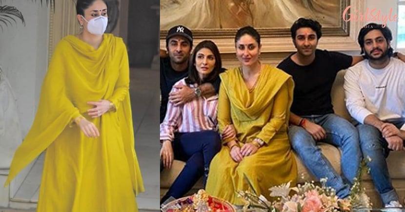 Kareena Kapoor Khan's Yellow Silk Kurta Set Is Perfect For Family Gatherings