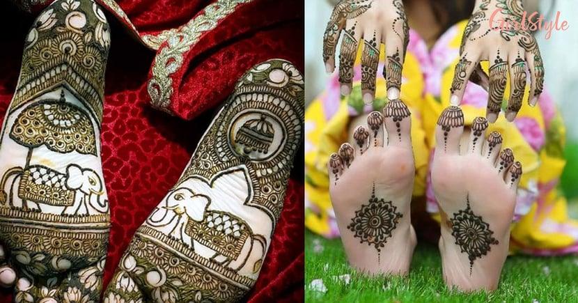 Mehendi Hai Rachne Wali! These Back Foot Mehendi Designs Are For Every Kind Of Bride