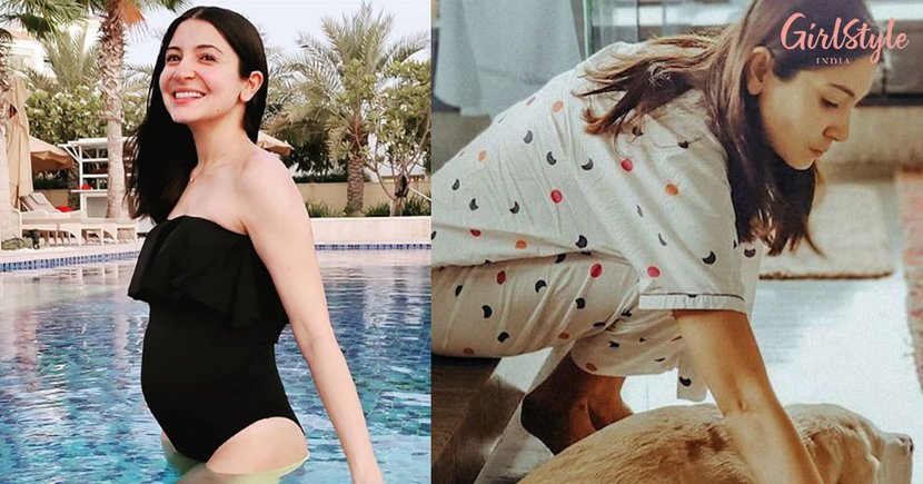 Anushka Sharma Takes Maternity Fashion To A New Level As She Flaunts Her Baby Bump In A Black Monokini