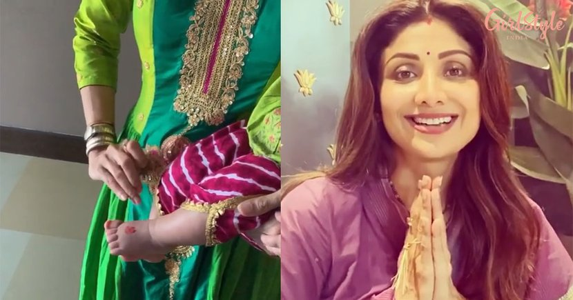 Shilpa Shetty Performs Kanya Puja During Navratri, Shares A Glimpse Of Daughter Samisha