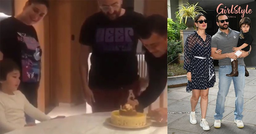 Taimur Loudly Sings Birthday Song With Saif-Kareena & It Is The Cutest Thing On Internet