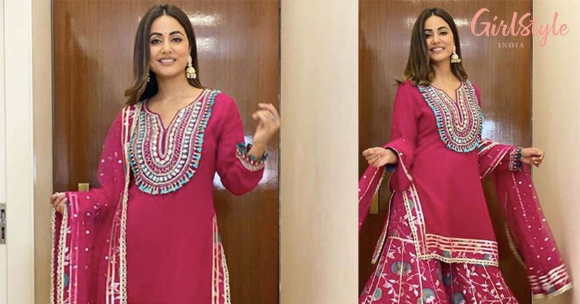 Hina Khan is All Set For The Festivities As She Dresses in Her Ethnic Best