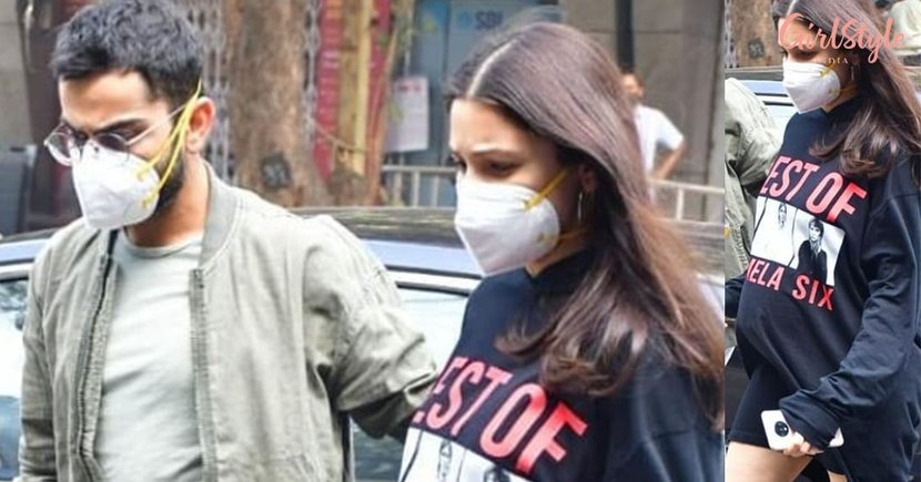 Mom-To-Be Anushka Continues To Choose Comfort As Her Maternity Style In ThisSweatshirt Dress