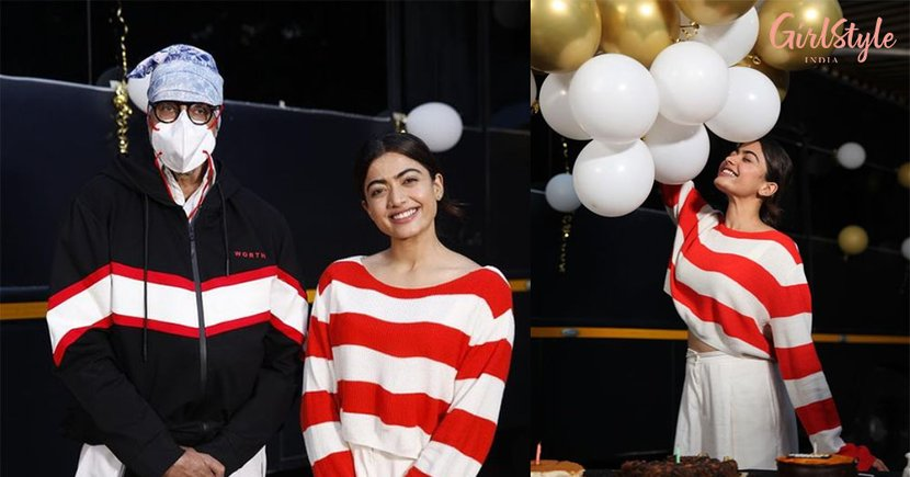Rashmika Mandanna Celebrates Birthday With Amitabh Bachchan On The Sets Of Goodbye