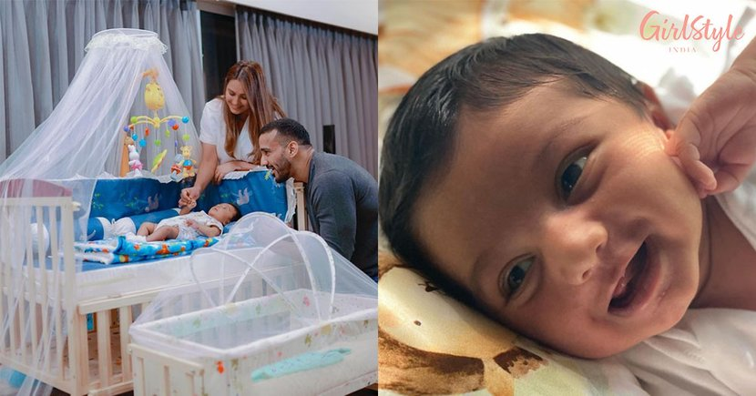 Anita Hassanandani Cradles Baby Aaravv As He Is Turning 2 Months