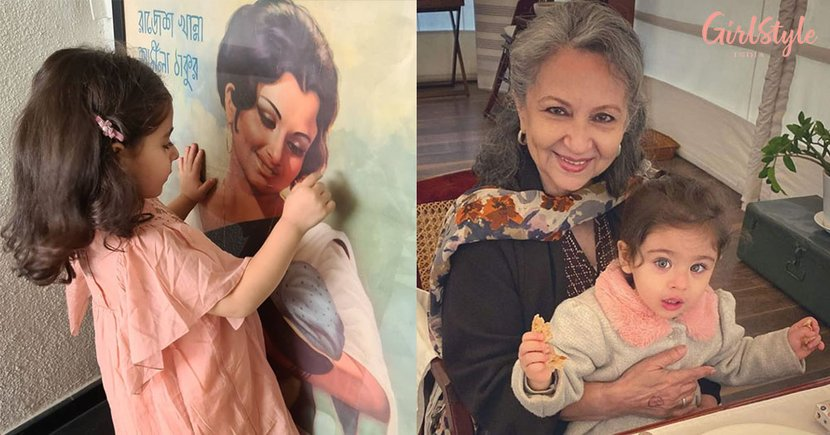 Inaaya Admires Grandmother Sharmila Tagore On Aradhana Poster & It's The Dose Of Cuteness You Need